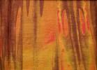 Rest Batikstoff long brown marbling