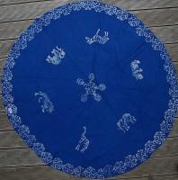 Runde Tischdecke, blau