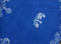 Runde Tischdecke, blau, Tansania