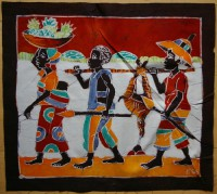 Batikbild, Elfenbeinküste
