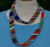 Perlenkette aus Südafrika, bunt