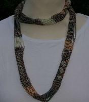 Perlenkette aus Südafrika, bronzefarben